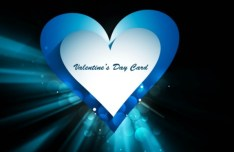 Fantastic Valentine's Day Card with Halo Background 01