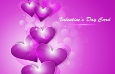 Fantastic Valentine's Day Card with Halo Background 02