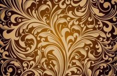 Golden Flourish Vector Background