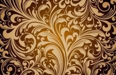 Golden Flourish Vector Background