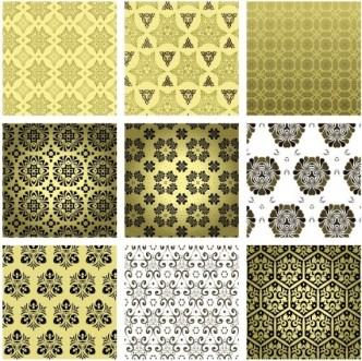 Set Of Vintage Background Patterns 02