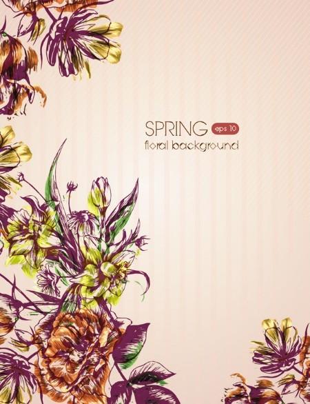 Spring 2013 Floral Background Vector 03