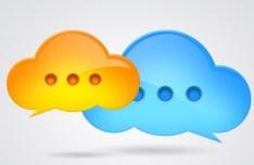 Cloud Like Chat Bubbles PSD