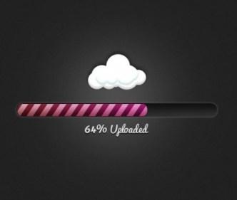 Cloud Uploader Progress Bar PSD