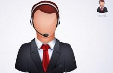 Online Customer Service PSD