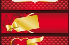 Valentine's Day Red Banner Vector 01
