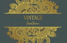Vintage Golden Flourish Frame Vector