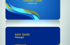 Blue Business Cards and Corporate identity Vector 01