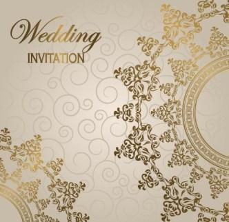 Wedding Invitation Patterns Vector 04