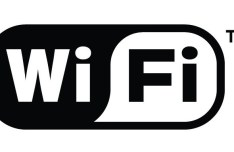 Black and White WIFI Vector Logo