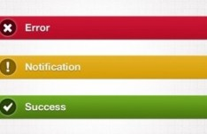 Notification Bars Design PSD