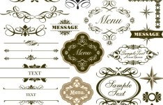 Set of Classical Vector Borders and Labels