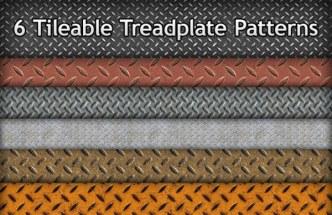 6 Tileable Treadplate Photoshop Patterns