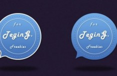 Bubble-Like Badge Template PSD