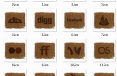Linen Style Social Media Icons