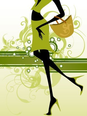 Fashion Pattern Girl Vector Illustration 03