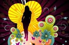 Fashion Pattern Girl Vector Illustration 18