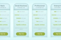 Web Pricing Tables PSD