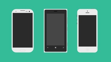 Galaxy S3, Lumia 920 and iPhone 5 Mockup PSD