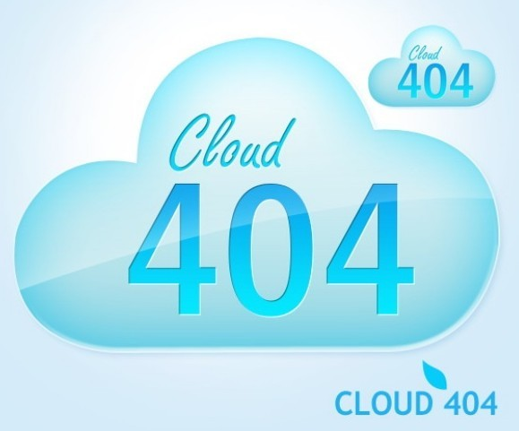 Cloud 404 Page Template PSD
