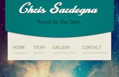 Galaxy Mobile Website Design PSD
