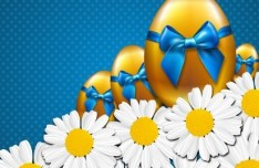 Happy Easter Card Background Vector 01