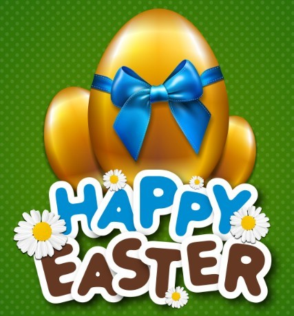 Happy Easter Card Background Vector 04
