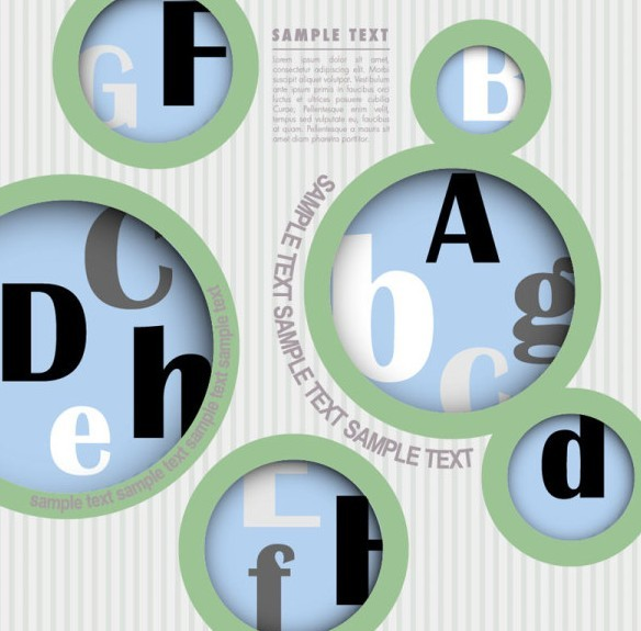 Vector Circular Alphabet Options For Infographic