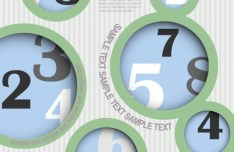 Vector Circular Numeric Options For Infographic 01