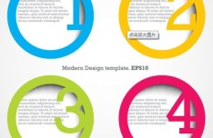 Vector Circular Numeric Options For Infographic 03