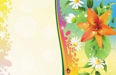 Vintage Spring Florals Background Vector 02