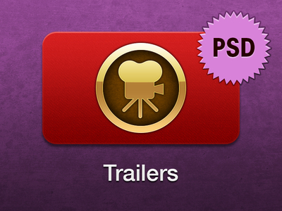 Apple TV Trailers Icon PSD