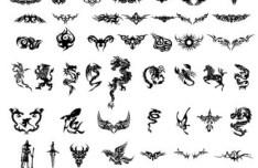 Black Tattoo Patterns Vector