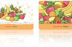 Fruit Themed Vector Card Design