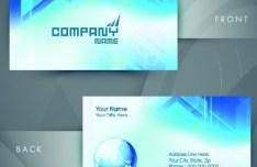 HI-Tech Concept Bussiness Card Template Vector 03
