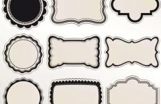 Set Of Vintage Vector Labels 04