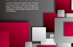 Colored Shapes Vector Background Design Template 04