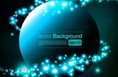 HI-Tech Futuristic Abstract Background Vector 03
