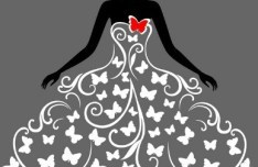Creative Wedding Dress Design Vector Illustration 02