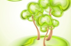 Green ECO Concept Trees Vector