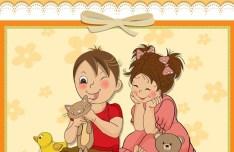Lovely Happy Birthday Vector Illustration 01