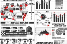 Population Infographic Template Vector