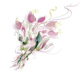 Vector Flowers In Traditional Chinese Ink Painting 02