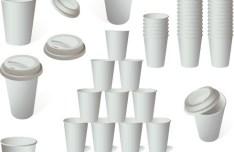 Set Of Vector Paper Cups
