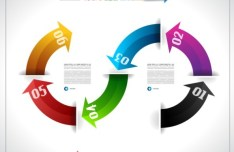Vector Information Analysis Template For Infographic 07