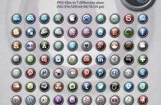 80+ Social Media Orbs Icon Pack