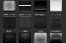 Dark Plastic Web Buttons Layered PSD