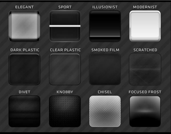 Dark Plastic Web Buttons Layered PSD