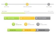 Sign Up Steps Interface PSD