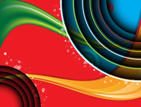 Three-dimensional & Colorful Abstract Background Vector 03